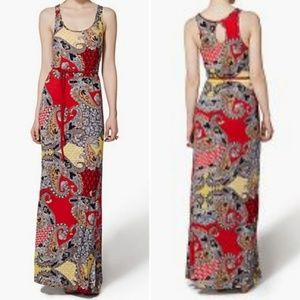 Lucky Brand Paisley Maxi Dress X-Small